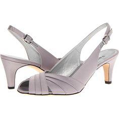 Gorgeous Womens Shoes Vaneli Majesta Silver Satin