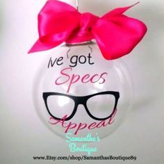Ive got Specs Appeal Optometrist/ Optical Technician Christmas Ornament by SamanthasBoutique89 on Etsy