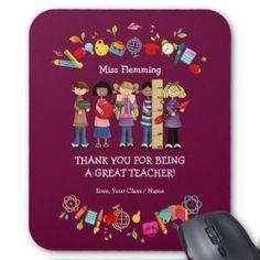 """Thank You, Teacher. Customizable Gift Mousepads (<em data-recalc-dims=""""1"""">$11.95</em>)"""