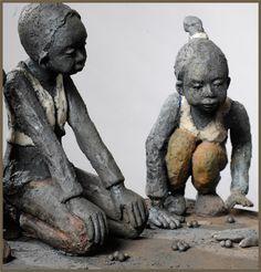 joelle gervais ceramiste - Google zoeken Human Sculpture, Art Sculpture, Pottery Sculpture, African Sculptures, Sculptures Céramiques, Ceramic Sculptures, Pottery Animals, Art Carved, Statues