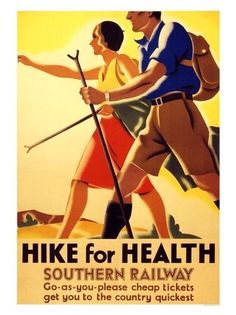 Southern Railway Hike for Health Poster.