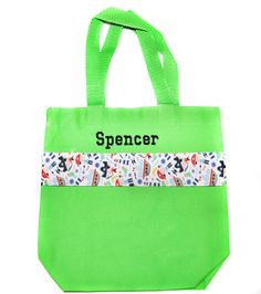 Pirate Tote Bag with Monogram Name Embroidered on it, Personalized Bag, Swin Bag, Daycare Bag, Toy Bag, Easter Basket Bag