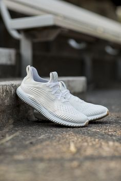best service 985c7 348f7 The adidas alphabounce is looking sharp for its latest release on a gum  sole with a white engineered mesh upper on a gum sole. The standard build  for the p