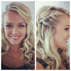 Half-up, braid, curls