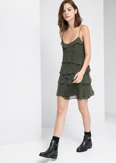 Discover the latest trends in Mango fashion, footwear and accessories. Shop the best outfits for this season at our online store. Mango Fashion, Jumpsuit Dress, Dress Codes, Jumpsuits For Women, Ruffle Dress, Everyday Fashion, Casual Looks, What To Wear, Cool Outfits
