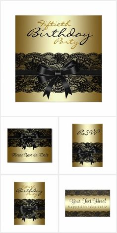 Black and Gold Lace Birthday Party