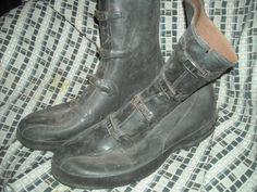 Vtg 11 Rubber Galoshes Buckle Strap Military Rain Snow Overshoe Boot | eBay