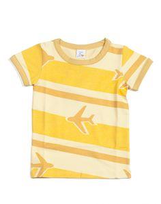 T-shirt Avion geel Dis Une Couleur T-shirt Jongen