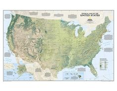 Buy United States Physical Wall Map Tubed
