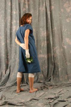 hand dyed silk linen ecotton slow fashion artisanal layered look..