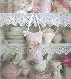 lace on shelves