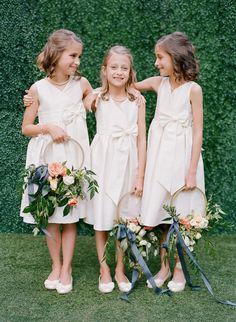 A Garden Wedding in South Carolina with Plenty of School Pride - Flower Girls - Bridesmaid Flowers, Bride Bouquets, Bridesmaid Dresses, Wedding Dresses, Junior Bridesmaids, Gown Wedding, Floral Wedding, Wedding Flowers, Purple Wedding