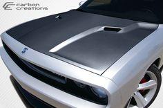 2008-2016 Dodge Challenger Carbon Creations SRT Look Hood - 1 Piece