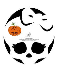 Free Monster High Pumpkin Carving Patterns | Cartoon Jr.