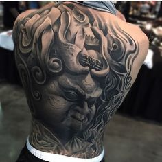 Fat Monster Full Back tattoo