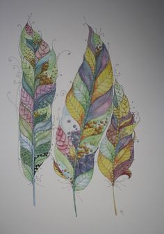 Jane Monk Studio - Longarm Machine Quilting & Teaching the Art of Zentangle®: A3 Watercolour & Ink Prints for sale