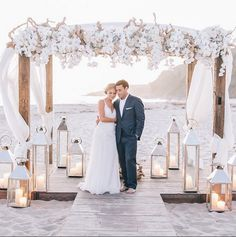 tying the knot, wedding planner, celebratory wedding, incredible team, wedding vendors, beach  wedding, wedding photography, white florals, candlelit alter, beach alter ideas, stunning