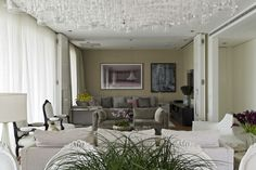 The Ibirapuera Apartment by Diego Revollo is an inviting home where the couple's love for art meets the designer's vision of elegance and sophistication. Contemporary Design, Modern Design, White Apartment, Interior Architecture, Interior Design, Inviting Home, Big Windows, Living Room Designs, Home Decor
