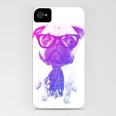 $35 Hipster pug iPhone 4 case