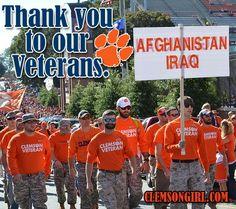Clemson Girl - Thank you Veterans! #veteransday #clemsongirl #clemson