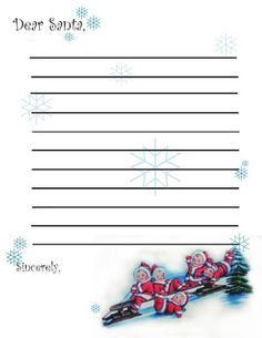 Dear Santa Letter Template  Dear Santa I Can Explain Postcards