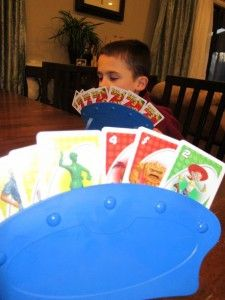 Card holders for kids. Great for family game night