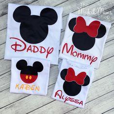 Familia Disney ratón oreja personalizado por TheModishMamaShop