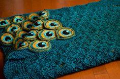 Peacock Pretty Blanket / Afghan / Throw Crochet by kraftling ($5)