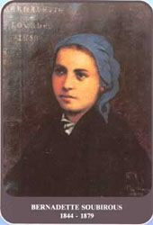 Bernadette Soubirous 1844 - 1879.......  The story of Lourdes and Bernadette, the girl who first saw Mary..