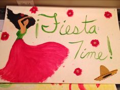 Fiesta Time, Goshen Cinco Style. Painted by Alexandria Hurt!