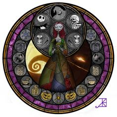 disney stained glass | The Nightmare Before Christmas