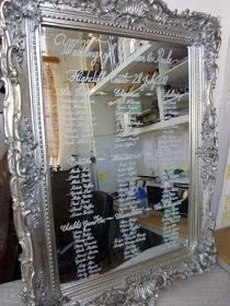 Bride De Force: Getting Ready for Fleur's Wedding - Mirror Table Plans Seating Plan Wedding, Wedding Table Numbers, Seating Plans, Table Seating, Banquet Seating, Wedding Tables, Wedding Signs, Our Wedding, Dream Wedding