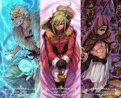 Fairy Tail: Bickslow , Laxus Dreyar , Freed Justine