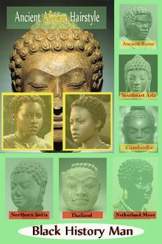 Africans took their unique hairstyles where ever they went in the world. Blacks in Rome, Africans in the Middle-east and Southeast Asia.