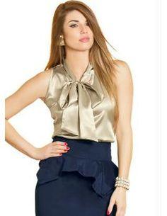 blusas de cetim - Pesquisa Google
