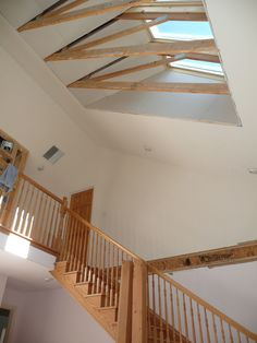 Peep out what we can do with the ceilings to open up the room, bring in more natural light and help keep house warm in winter.