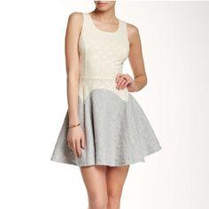 Color Block Polka Dote Skater Dress