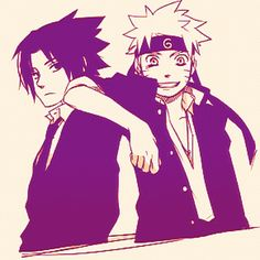 Naruto and Sasuke: Konoha High School Style
