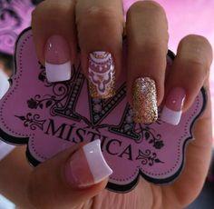 Modelo Magic Nails, Love Nails, Glitter, Hair And Nails, Nail Art Designs, Manicure Ideas, Makeup, Beauty, Tips