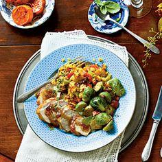 Modern Takes on Thanksgiving Menus | Lowcountry Meat 'n' Three Menu | MyRecipes.com