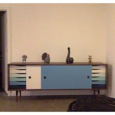 Unson Media Console - Photo by Sharon Stanley Bungalow Ideas, Interior Decorating, Interior Design, Sideboard, Console, Design Ideas, Cabinet, Retro, Storage