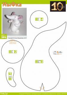 Best 12 Fun Little Creatures – SkillOfKing. Sewing Stuffed Animals, Stuffed Toys Patterns, Felt Dolls, Doll Toys, Sewing Toys, Sewing Crafts, Mouse Crafts, Hamster, Felt Mouse