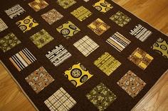 fun charm square quilt