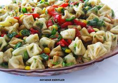 ravioli salad, ravioli salad recipe, salad recipes for tea invitations, salat … - Salat Ideen Easy Salad Recipes, Easy Salads, Soup Recipes, Salad Menu, Salad Dishes, Mantu Recipe, Crab Stuffed Avocado, Light Summer Dinners, Snacks
