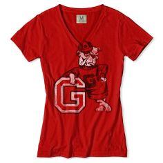 Georgia Bulldogs V-Neck T-Shirt Georgia Bulldogs Shirt dd7dba21f