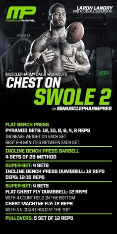 Muscle Building Tips. Gain More Mass With These Weight Training Tips! It can be fun to lift weights if you do it safely and correctly. You can enjoy yourself and see the progress of an effective workout routine. Bodybuilding Training, Bodybuilding Workouts, Chest Workouts, Gym Workouts, Swimming Workouts, Swimming Tips, Chest Exercises, Musclepharm Workouts, Cycling Workout