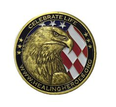 A challenge coin is a small coin or medallion (usually military), bearing an organization's insignia or emblem and carried by the organization's members. Traditionally, they are given to prove members