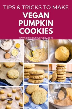 These vegan pumpkin cookies are the perfect Fall treat! They're packed with flavor from pumpkin and brown sugar, easy to whip up in 30 minutes, and they're completely vegan. Vegan Pumpkin Cookies, Pumpkin Cookie Recipe, Pumpkin Chocolate Chips, Vegan Buttercream, Vegan Frosting, Vegan Desserts, Vegan Recipes, Vegetarian Christmas Recipes, Vegan Comfort Food