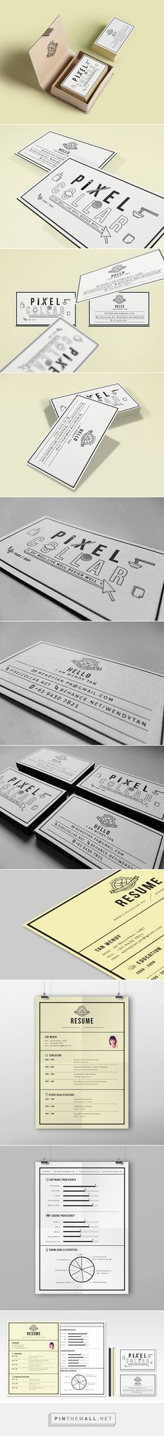 Pixel Collar - Namecard on Behance - created on Name Card Design, Bussiness Card, Self Promotion, Branding Ideas, Nice To Meet, Name Cards, Letterhead, Brand Design, Package Design