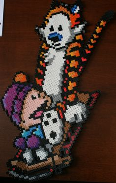 Calvin and Hobbes perler beads by ~Pumpkin-Rain on deviantART